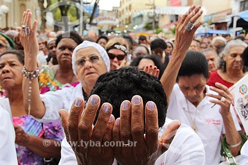 Fiéis na missa campal durante a Festa de São Benedito  - Aparecida - São Paulo (SP) - Brasil