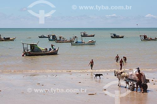 Traineiras na orla da Praia de Tambaú  - João Pessoa - Paraíba (PB) - Brasil