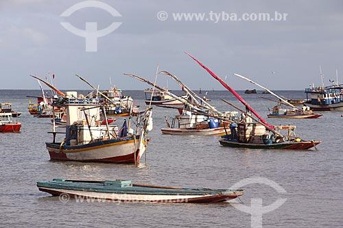 Traineiras na orla da Praia de Mucuripe  - Fortaleza - Ceará (CE) - Brasil