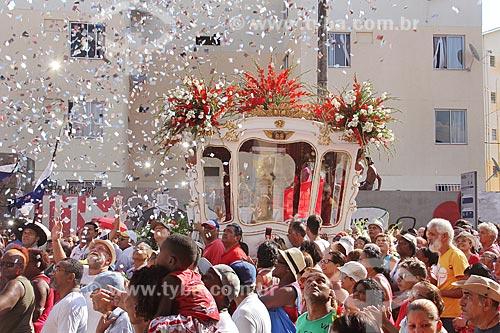 Procissão em celebração à São Sebastião na rua Frei Caneca  - Rio de Janeiro - Rio de Janeiro (RJ) - Brasil