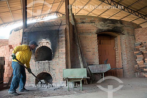 Forno da olaria Cerâmica Goiana  - Ourilândia do Norte - Pará (PA) - Brasil