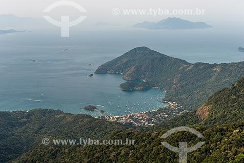 Vila do Abraão vista do topo do Pico do Papagaio  - Angra dos Reis - Rio de Janeiro (RJ) - Brasil