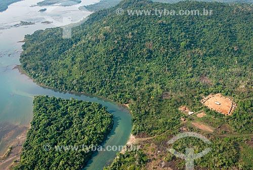 Foto aérea da tribo Pykararakre na Terra Indígena Kayapó  - São Félix do Xingu - Pará (PA) - Brasil