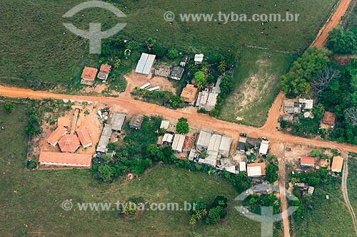 Foto aérea de casas na zona rural da cidade de Tucumã  - Tucumã - Pará (PA) - Brasil