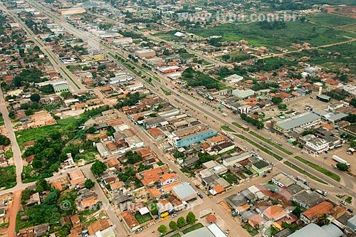 Foto aérea da Avenida das Nações (PA-279)  - Ourilândia do Norte - Pará (PA) - Brasil