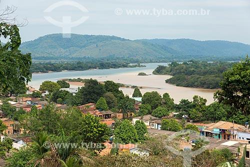Vista geral do encontro das águas do Rio Fresco e Rio Xingu  - São Félix do Xingu - Pará (PA) - Brasil