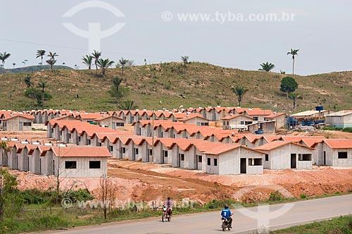 Construção de casas do Programa Minha Casa Minha Vida próximo à Rodovia PA-279  - São Félix do Xingu - Pará (PA) - Brasil