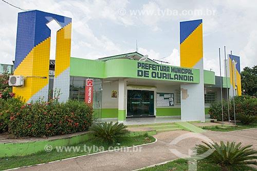 Fachada da Prefeitura Municipal de Ourilândia do Norte  - Ourilândia do Norte - Pará (PA) - Brasil