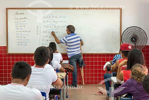 Professor portador de necessidades especiais na Escola Municipal Elcione Barbalho  - Tucumã - Pará (PA) - Brasil