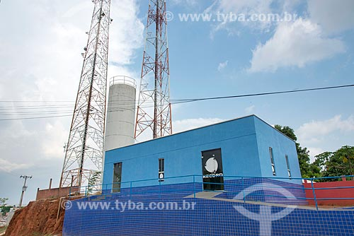 Estúdio a antena transmissora da TV Record  - Tucumã - Pará (PA) - Brasil