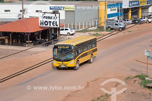 Ônibus Escolar na Avenida das Nações (PA-279)  - São Félix do Xingu - Pará (PA) - Brasil