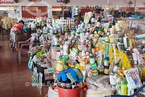 Mercadorias à venda no Mercado Municipal de Tucumã  - Tucumã - Pará (PA) - Brasil