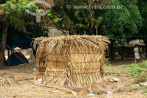 Banheiros da Aldeia Moikarakô - Terra Indígena Kayapó  - São Félix do Xingu - Pará (PA) - Brasil