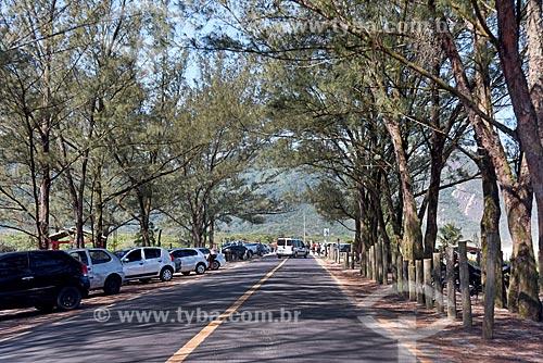 Avenida Estado da Guanabara na orla da Praia de Grumari  - Rio de Janeiro - Rio de Janeiro (RJ) - Brasil