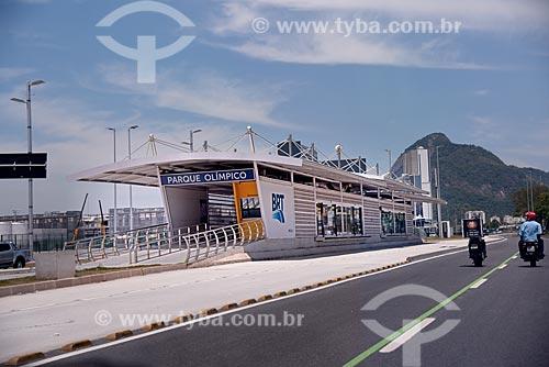 Estação do BRT Transolímpico - Parque Olímpico (Abelardo Bueno) - na Avenida Embaixador Abelardo Bueno  - Rio de Janeiro - Rio de Janeiro (RJ) - Brasil