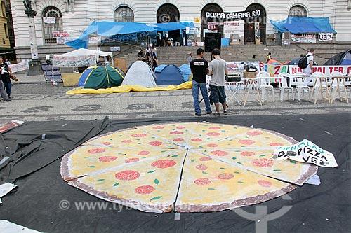 Manifestação em frente à Câmara Municipal do Rio de Janeiro  - Rio de Janeiro - Rio de Janeiro (RJ) - Brasil