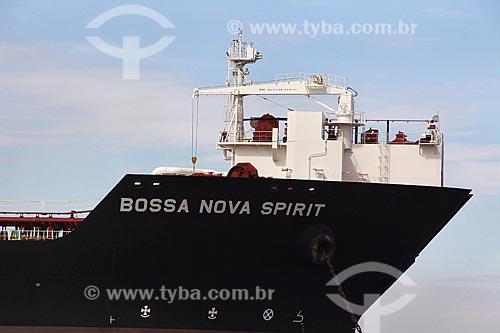 Navio petroleiro Bossa Nova Spirit na Baía de Guanabara  - Rio de Janeiro - Rio de Janeiro (RJ) - Brasil
