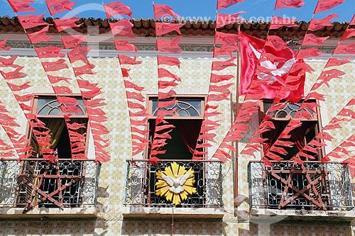 Museu Casa do Divino decorado para a Festa do Divino  - Alcântara - Maranhão (MA) - Brasil