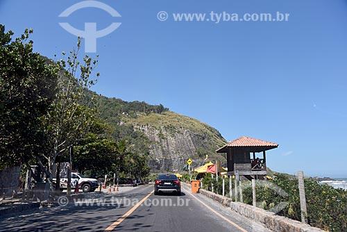 Avenida Estado da Guanabara na orla do Parque Natural Municipal da Prainha  - Rio de Janeiro - Rio de Janeiro (RJ) - Brasil