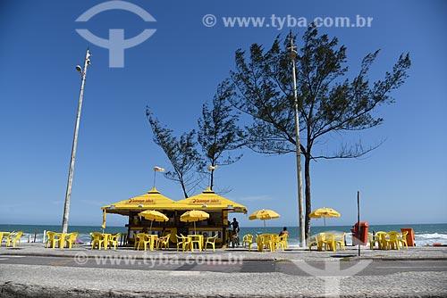 Quiosque na orla da Praia do Recreio dos Bandeirantes  - Rio de Janeiro - Rio de Janeiro (RJ) - Brasil