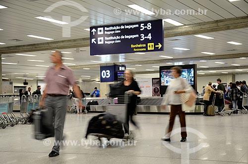 Esteira de bagagem na área de desembarque Aeroporto Internacional Antônio Carlos Jobim  - Rio de Janeiro - Rio de Janeiro (RJ) - Brasil