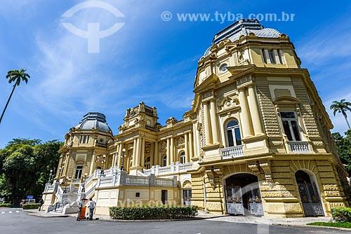 Fachada do Palácio Laranjeiras (1913) - residência oficial do governador do estado do Rio de Janeiro  - Rio de Janeiro - Rio de Janeiro (RJ) - Brasil