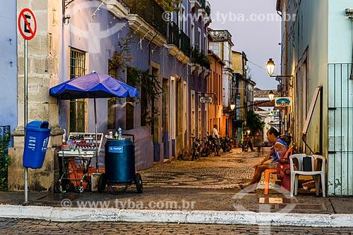 Beco no centro histórico de Salvador  - Salvador - Bahia (BA) - Brasil