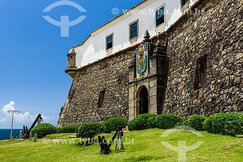 Fachada do Forte de Santo Antônio da Barra (1702)  - Salvador - Bahia (BA) - Brasil