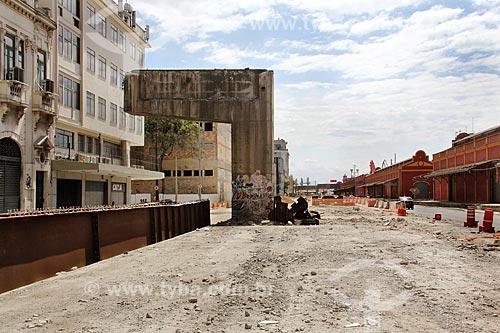 Demolição de um trecho do Elevado da Perimetral  - Rio de Janeiro - Rio de Janeiro (RJ) - Brasil