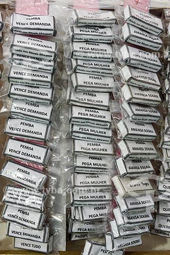 Detalhe de pemba à venda em Salvador  - Salvador - Bahia (BA) - Brasil