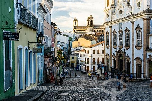 Vista da Igreja de Nossa Senhora do Rosário dos Pretos (século XVIII) a partir do Pelourinho  - Salvador - Bahia (BA) - Brasil