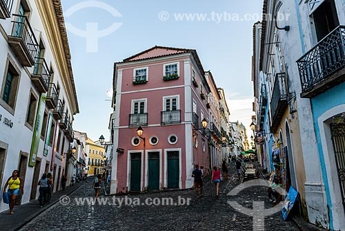 Vista da Rua Maciel de Baixo com a Rua Maciel de Cima no Pelourinho  - Salvador - Bahia (BA) - Brasil
