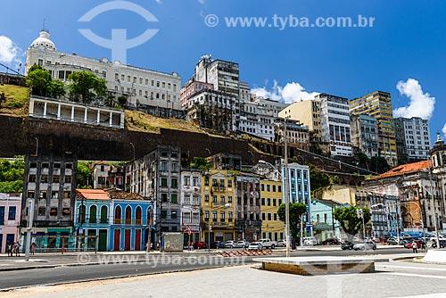 Vista da cidade alta a partir da Praça Visconde de Cayru  - Salvador - Bahia (BA) - Brasil