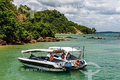 Barco ancorado no Porto de Morro de São Paulo  - Cairu - Bahia (BA) - Brasil