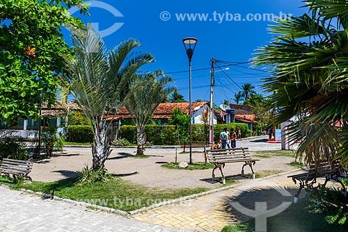 Praça na Vila de Velha Boipeba  - Cairu - Bahia (BA) - Brasil