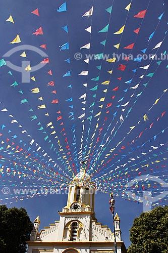 Igreja de São Benedito decorada durante a Festa de São Benedito  - Aparecida - São Paulo (SP) - Brasil