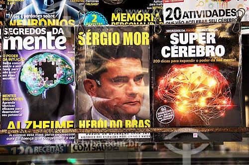 Revistas à venda em banca de jornal  - Rio de Janeiro - Rio de Janeiro (RJ) - Brasil