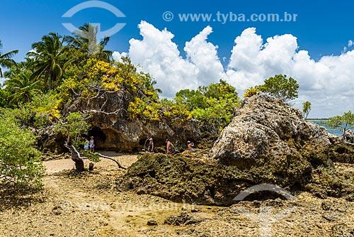 Turistas na Ilha da Pedra Furada  - Camamu - Bahia (BA) - Brasil