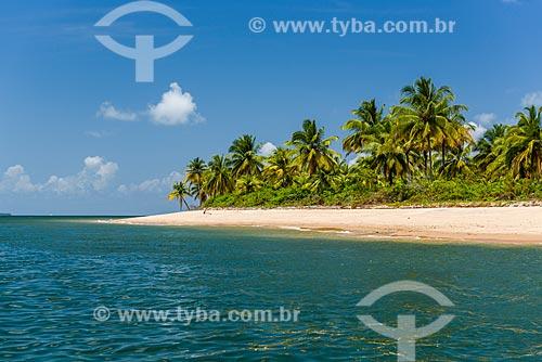 Vista da Ilha de Campinho a partir do Baía de Camamu  - Camamu - Bahia (BA) - Brasil