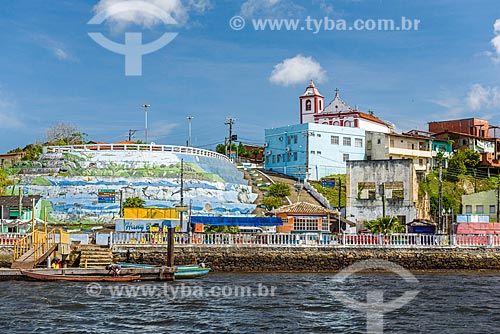Vista da Vila de Barra Grande a partir da Baía de Camamu  - Maraú - Bahia (BA) - Brasil
