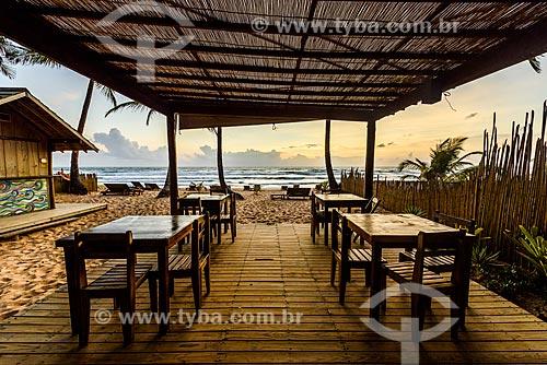 Restaurante na orla da Praia de taipús de fora  - Maraú - Bahia (BA) - Brasil