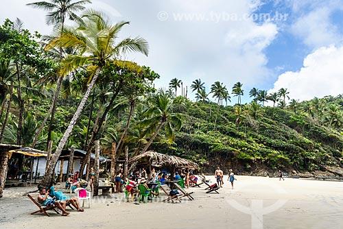 Banhistas na orla da Praia do Havaizinho  - Itacaré - Bahia (BA) - Brasil
