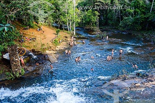 Banhista na Cachoeira do Tijuípe  - Itacaré - Bahia (BA) - Brasil