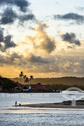 Pôr do sol na orla da Ponta do Xaréu  - Itacaré - Bahia (BA) - Brasil