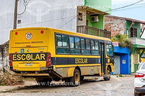 Ônibus Escolar na cidade de Itacaré  - Itacaré - Bahia (BA) - Brasil