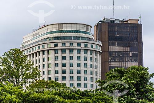 Vista dos prédios do centro do Rio de Janeiro a partir da Praça Paris  - Rio de Janeiro - Rio de Janeiro (RJ) - Brasil