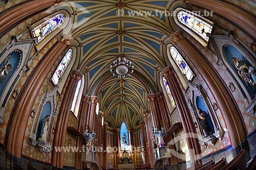Interior da Igreja Matriz Sagrado Coração de Jesus (1908)  - Rio de Janeiro - Rio de Janeiro (RJ) - Brasil