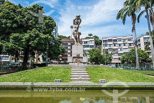 Estátua de São Sebastião na Praça Luís de Camões  - Rio de Janeiro - Rio de Janeiro (RJ) - Brasil