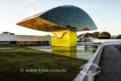 Fachada do Museu Oscar Niemeyer - também conhecido como Museu do Olho  - Curitiba - Paraná (PR) - Brasil