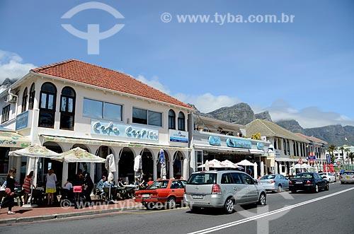 Orla da praia de Camps Bay  - Cidade do Cabo - Província do Cabo Ocidental - África do Sul